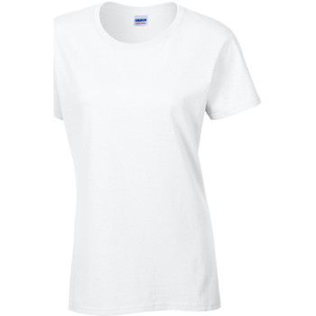 Textil Mulher T-Shirt mangas curtas Gildan Missy Fit Branco