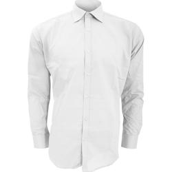 Textil Homem Camisas mangas comprida Kustom Kit KK192 Branco