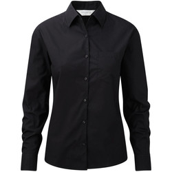 Textil Mulher camisas Russell Work Preto