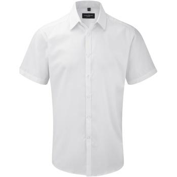 Textil Homem Camisas mangas curtas Russell 963M Branco