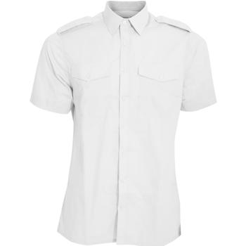 Textil Homem Camisas mangas curtas Kustom Kit KK133 Branco