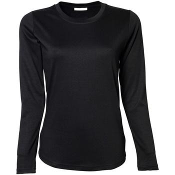 Textil Mulher T-shirt mangas compridas Tee Jays TJ590 Preto