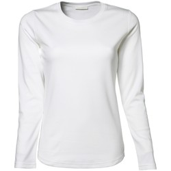 Textil Mulher T-shirt mangas compridas Tee Jays TJ590 Branco