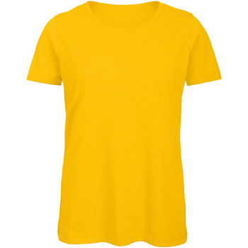 Textil Mulher T-Shirt mangas curtas B And C TW043 Ouro