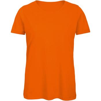 Textil Mulher T-Shirt mangas curtas B And C TW043 Orange