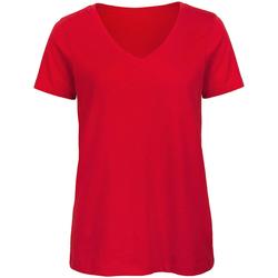 Textil Mulher T-Shirt mangas curtas B And C Organic Vermelho