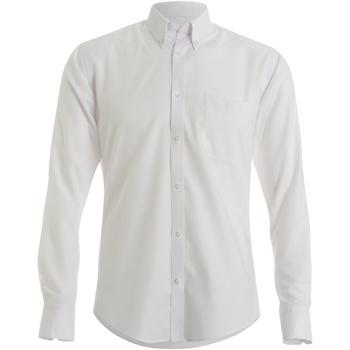Textil Homem Camisas mangas comprida Kustom Kit KK139 Branco
