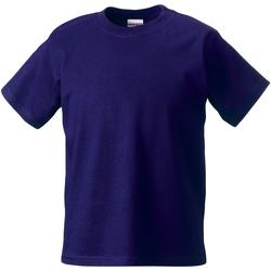 Textil Criança T-Shirt mangas curtas Jerzees Schoolgear ZT180B Púrpura