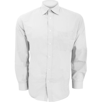Textil Homem Camisas mangas comprida Kustom Kit KK104 Branco