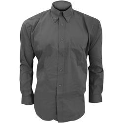 Textil Homem Camisas mangas comprida Kustom Kit KK105 Carvão vegetal