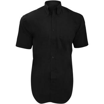 Textil Homem Camisas mangas curtas Kustom Kit KK109 Preto