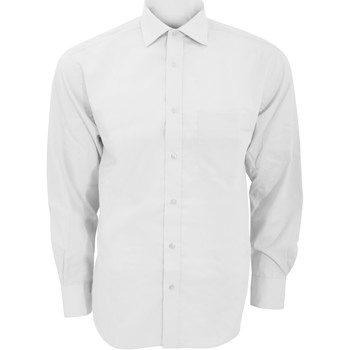Textil Homem Camisas mangas comprida Kustom Kit KK116 Branco