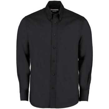 Textil Homem Camisas mangas comprida Kustom Kit KK131 Preto