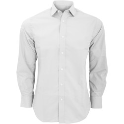 Textil Homem Camisas mangas comprida Kustom Kit KK131 Branco
