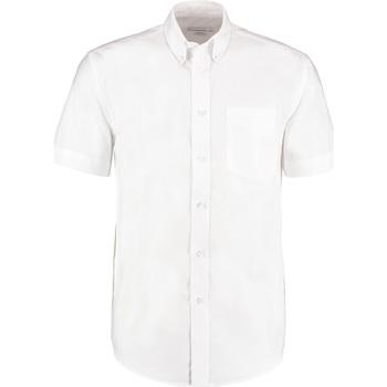 Textil Homem Camisas mangas curtas Kustom Kit KK350 Branco