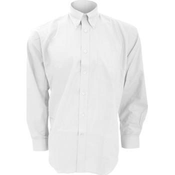 Textil Homem Camisas mangas comprida Kustom Kit KK351 Branco