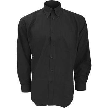 Textil Homem Camisas mangas comprida Kustom Kit KK351 Preto