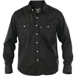 Textil Homem Camisas mangas comprida Duke Western Preto