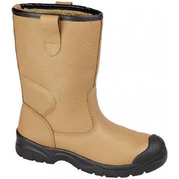 Sapatos Homem Sapato de segurança Grafters  Tan