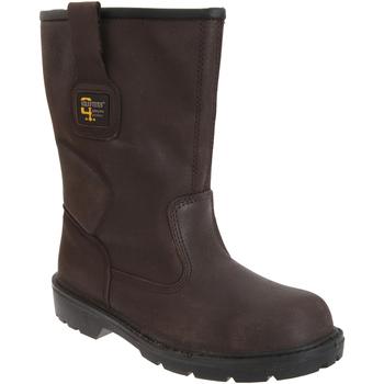 Sapatos Homem Sapato de segurança Grafters  Brown