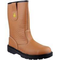 Sapatos Homem Sapato de segurança Amblers 124 S3 Tan