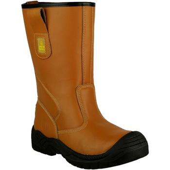 Sapatos Homem Sapato de segurança Amblers 142 S3 Tan