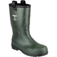 Sapatos Homem Sapato de segurança Footsure 97 GREEN PVC RIGGER Verde