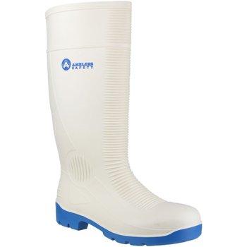 Sapatos Homem Sapato de segurança Amblers FS98 Safety White Wellingtons Branco