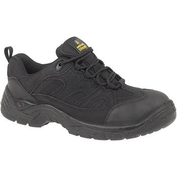 Sapatos Homem Sapato de segurança Amblers FS214 BLACK TRAINER SHOE Preto