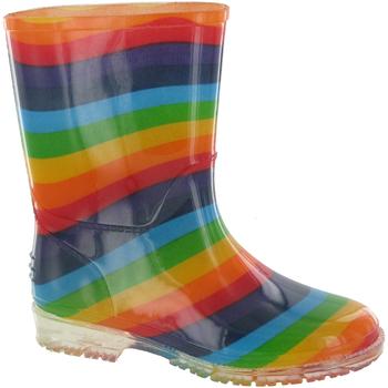 Sapatos Rapariga Botas de borracha Cotswold PVC KIDS RAINBOW Multi