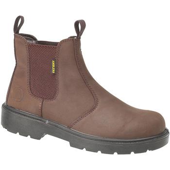 Sapatos Homem Botas baixas Amblers FS128 Safety Brown
