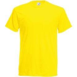 Textil Homem T-Shirt mangas curtas Fruit Of The Loom SS12 Amarelo