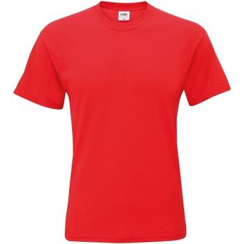 Textil Homem T-Shirt mangas curtas Fruit Of The Loom SS12 Vermelho