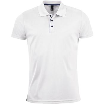 Textil Homem Polos mangas curta Sols 01180 Branco