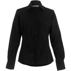 Textil Mulher camisas Kustom Kit Business Preto