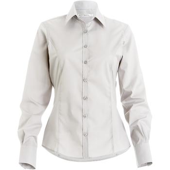 Textil Mulher camisas Kustom Kit Business Branco