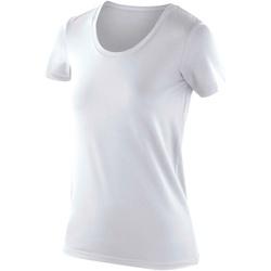 Textil Mulher T-Shirt mangas curtas Spiro SR280F Branco