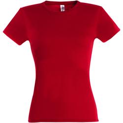 Textil Mulher T-Shirt mangas curtas Sols Miss Vermelho