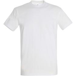 Textil Homem T-Shirt mangas curtas Sols 11500 Branco