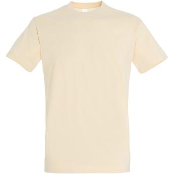 Textil Homem T-Shirt mangas curtas Sols 11500 Cream