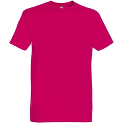 Textil Homem T-Shirt mangas curtas Sols 11500 Fuchsia