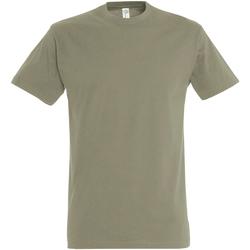 Textil Homem T-Shirt mangas curtas Sols 11500 Khaki