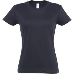 Textil Mulher T-Shirt mangas curtas Sols 11502 Marinha