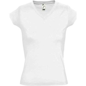 Textil Mulher T-Shirt mangas curtas Sols Moon Branco