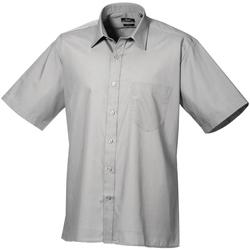 Textil Homem Camisas mangas curtas Premier PR202 Prata