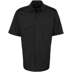 Textil Homem Camisas mangas curtas Premier PR212 Preto