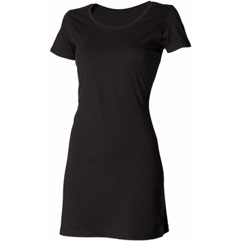 Textil Mulher Vestidos curtos Skinni Fit Scoop Neck Preto