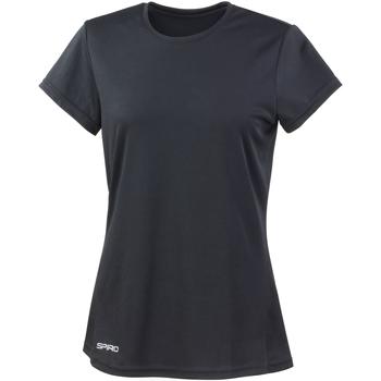 Textil Mulher T-Shirt mangas curtas Spiro S253F Preto