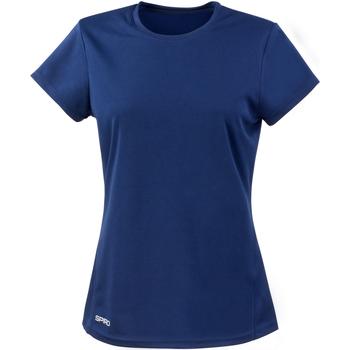 Textil Mulher T-Shirt mangas curtas Spiro S253F Marinha