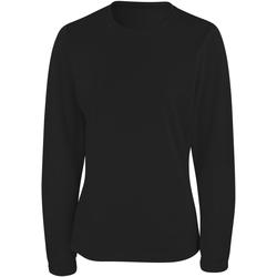 Textil Mulher T-shirt mangas compridas Spiro S254F Preto